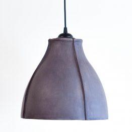 grijs leren hanglamp